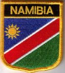 Namibia Embroidered Flag Patch, style 07.